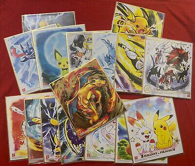 Pokemon Shikishi ART 4 16 types of full comp set Pikachu /& Scorbu