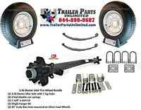 3.5k Trailer Kit, 2 15 St205/75d15 Tire Wheel Combos, 3500 Utility Axle 8974