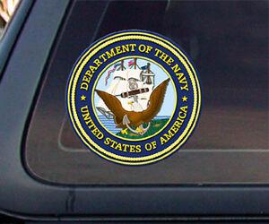 Sticker World Design U.S Navy Department Car Decal