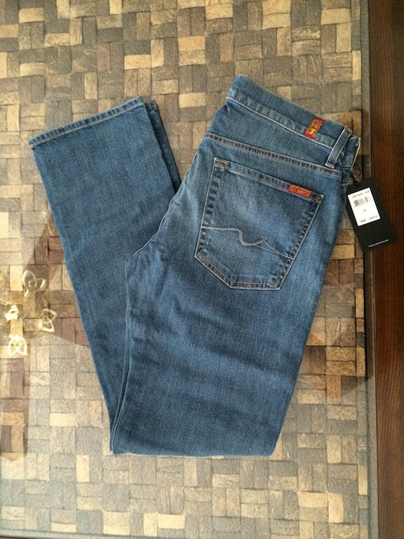 7 For All Mankind Standard Straight Leg Jeans bluee Wash All Sizes