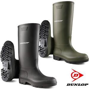 Mens-Ladies-Dunlop-CALF-HIGH-Wellingtons-Wellies-Ankle-Rain-Mucker-Boots-Shoes
