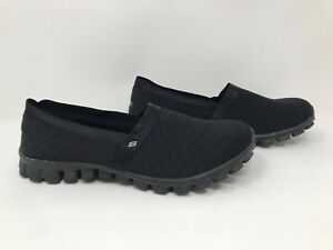 New-Women-039-s-Skechers-22665-EZ-Flex-2-Bankroll-Slip-On-Flats-Black-S61