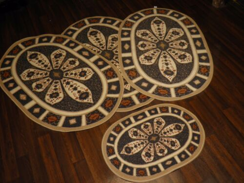 ROMANY GYPSY WASHABLES NEW 2017 X CROWN DBY X FULL SET OF 4  MATS//RUGS NON SLIP
