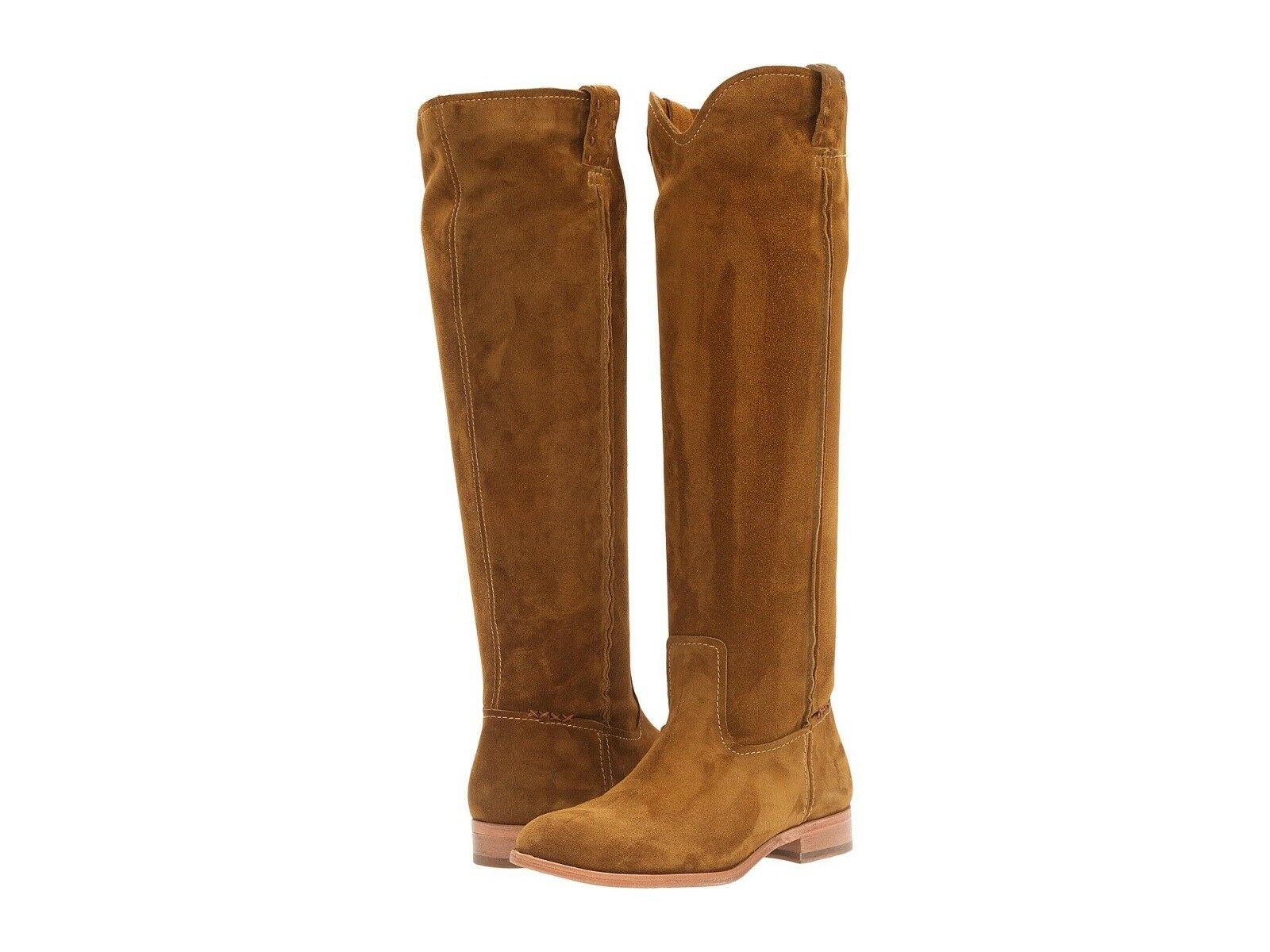 FRYE Cara Tall Stiefel Wheat Oiled Suede Wood Oiled Suede Free Shipping