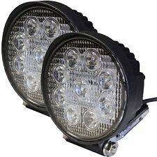 27W Flood Led Light Round Offroad for Atv Trailer Plow Truck Jeep SUV Car 12/24v
