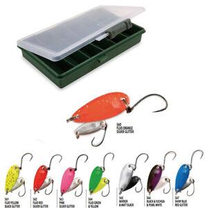 scatolina porta pesca Trout Area CASG KP2931 Kit 8 spoon Nomura Glitter 2,0 gr