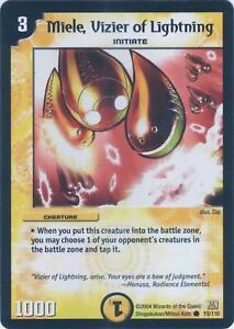 Duel Master TGC Ballas Vizier of Electrons Stomp-a-Trons of Invincible Wrath