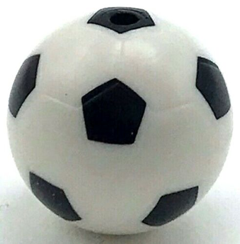 Lego New White Sports Soccer Ball with Standard Pattern