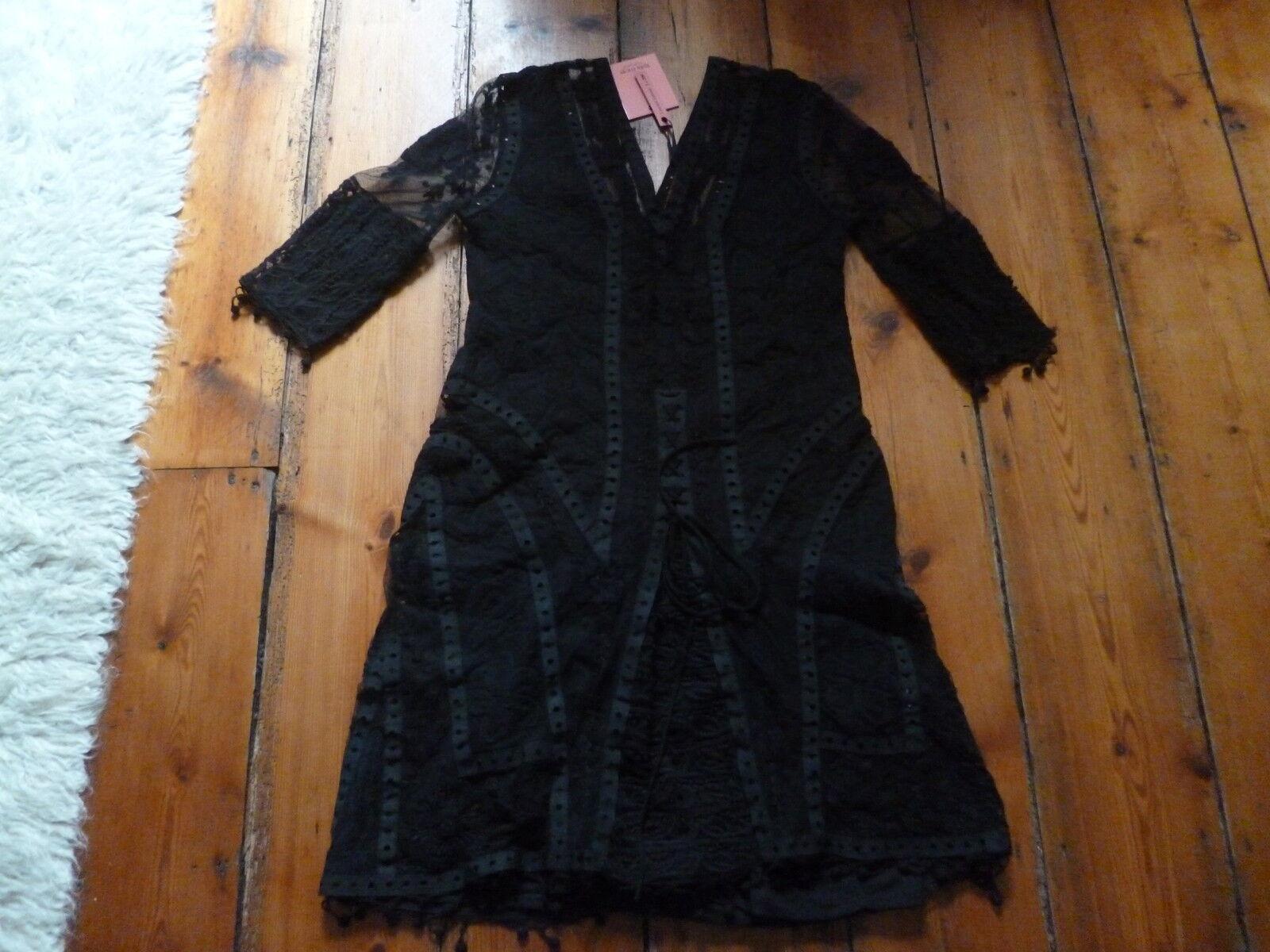 BNWT KATE MOSS schwarz  LACE & CROCHET DRESS 8 TOPSHOP 1 of 200.
