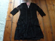 BNWT KATE MOSS BLACK  LACE & CROCHET DRESS, 8, TOPSHOP, 1 of 200.