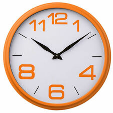 New Orange White Vintage Wall Round Clock Time Design Child Bedroom Kitchen Home