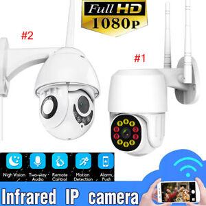 Lot 1080P 4/10 LED WIFI IP CCTV Security Camera Wireless Outdoor HD Home PTZ IR