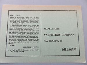 Card Classic Vintage Bompiani Mansion Publishing Half Of 1900