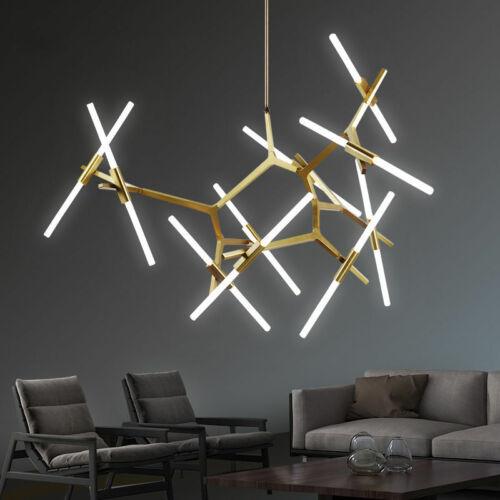 Modern Metal Chandelier Light Glass Tree Branch Pendant Lamp Ceiling Fixtures