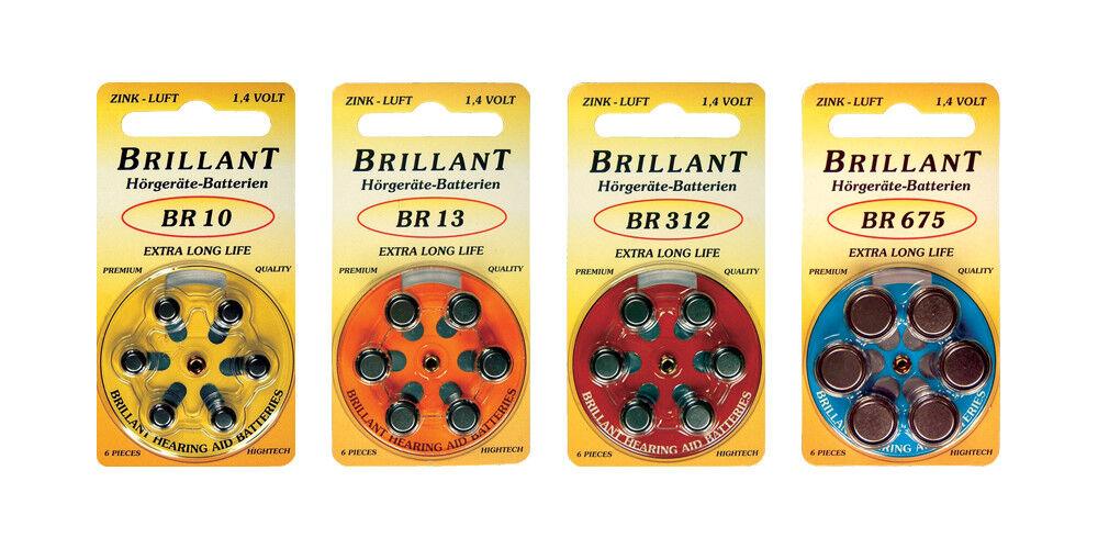 Hörgerätebatterien Brilant Knopfzelle Hörgerät Batterie Typ 10 13 312 675 | Moderner Modus