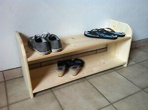 Schuhschrank-Schuhregal-Schuh-Regal-HOLZ-versch-Groessen-Fichte