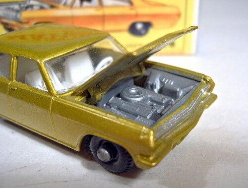 Matchbox RW 36c Opel diplomático oro metalizado escasos gris motor motor motor perfectamente en Box 3a54e5