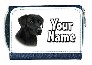 BLACK-LABRADOR-PERSONALISED-DENIM-PURSE-GREAT-LADIES-GIRLS-NAMED-GIFT-PRESENT