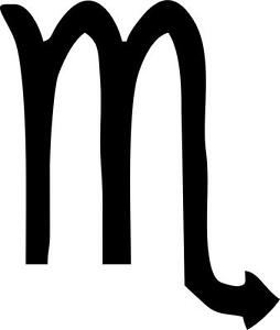 Aufkleber sternzeichen astrologie scorpio scorpion horoskop