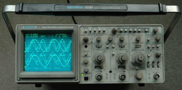 Tektronix 2230 100MHz Digital Oscilloscope, Calibrated, Two Probes, Power cord