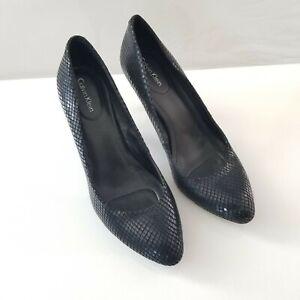 black calvin klein shoes