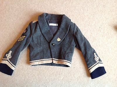 Stella McCartney Lee Iconic Military Jacket Cropped Wool Immaculate Age 6