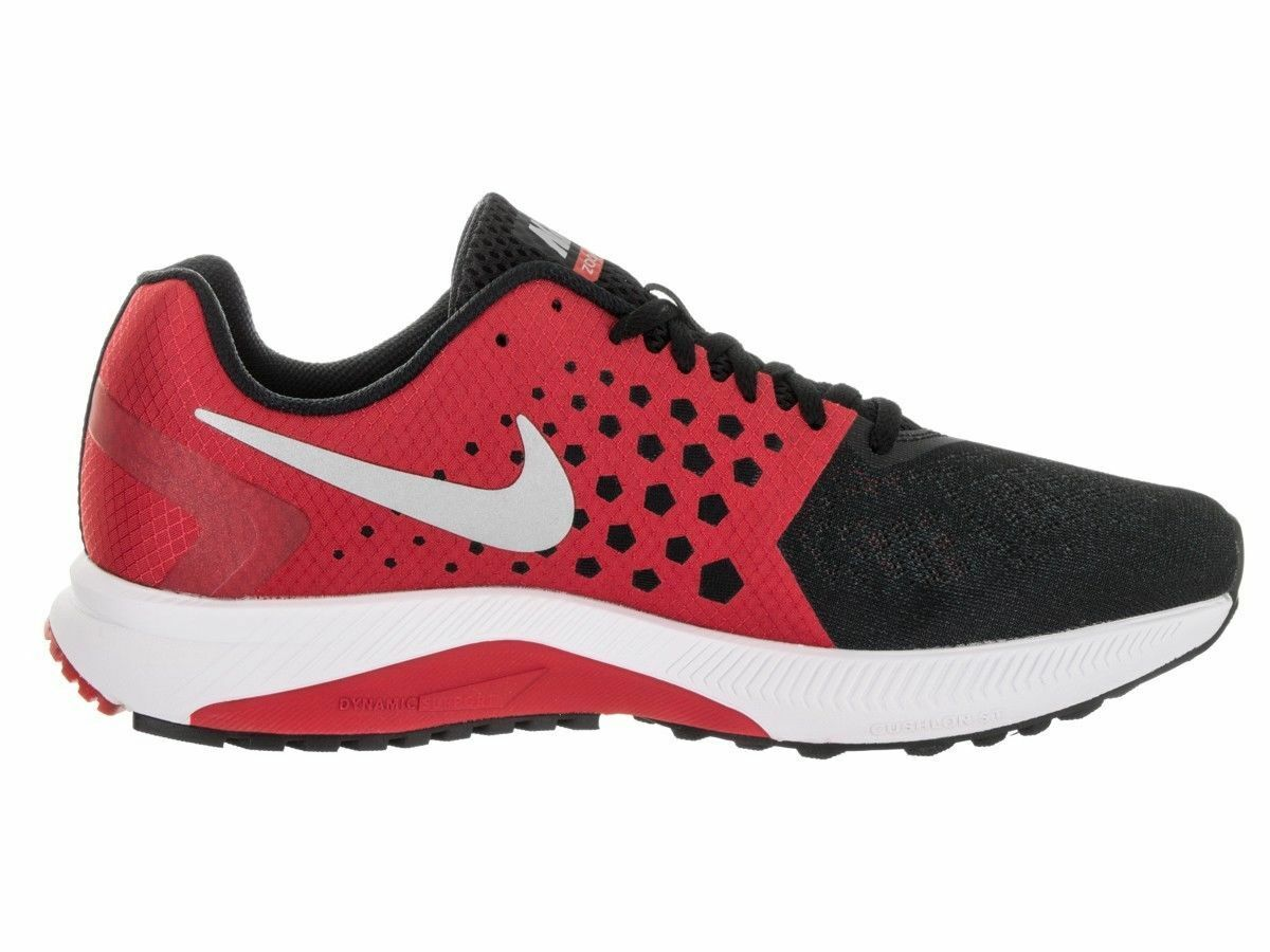 Nike Zoom Span Running Shoes 852437 003 Black Silver Red Grey US Siz 8 - 11 100