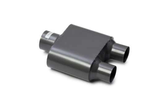 1999-2008 GMC Sierra Dual Exhaust Performance 1-Chamber Muffler Kit Chrome Tips