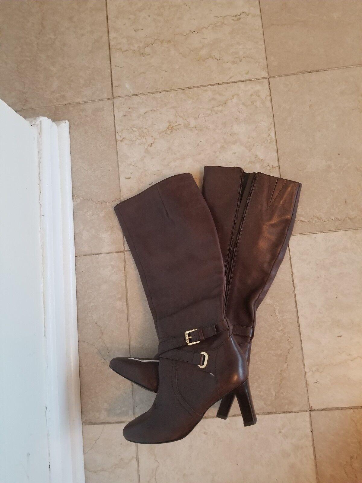 NEU Ralph Lauren Nally Braun Leder High Heel Stiefel 5M