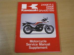 kawasaki z400 z500 z550 gpz400 gpz 550 z 400 500 550 service manual rh ebay co uk 1982 Kawasaki GPZ 1981 Kawasaki GPZ 550