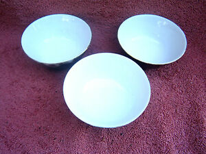 SET THREE PORCELAIN DESSERT DISHES MADE IN CHINA