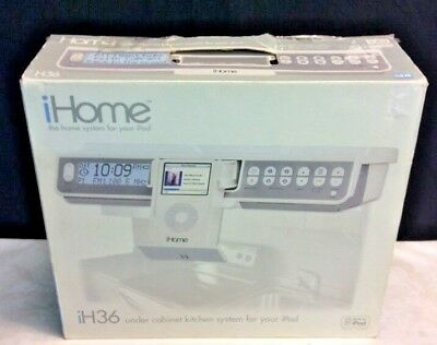 Ihome Model Ih36 Under Cabinet Kitchen System And 10gb White Ipod