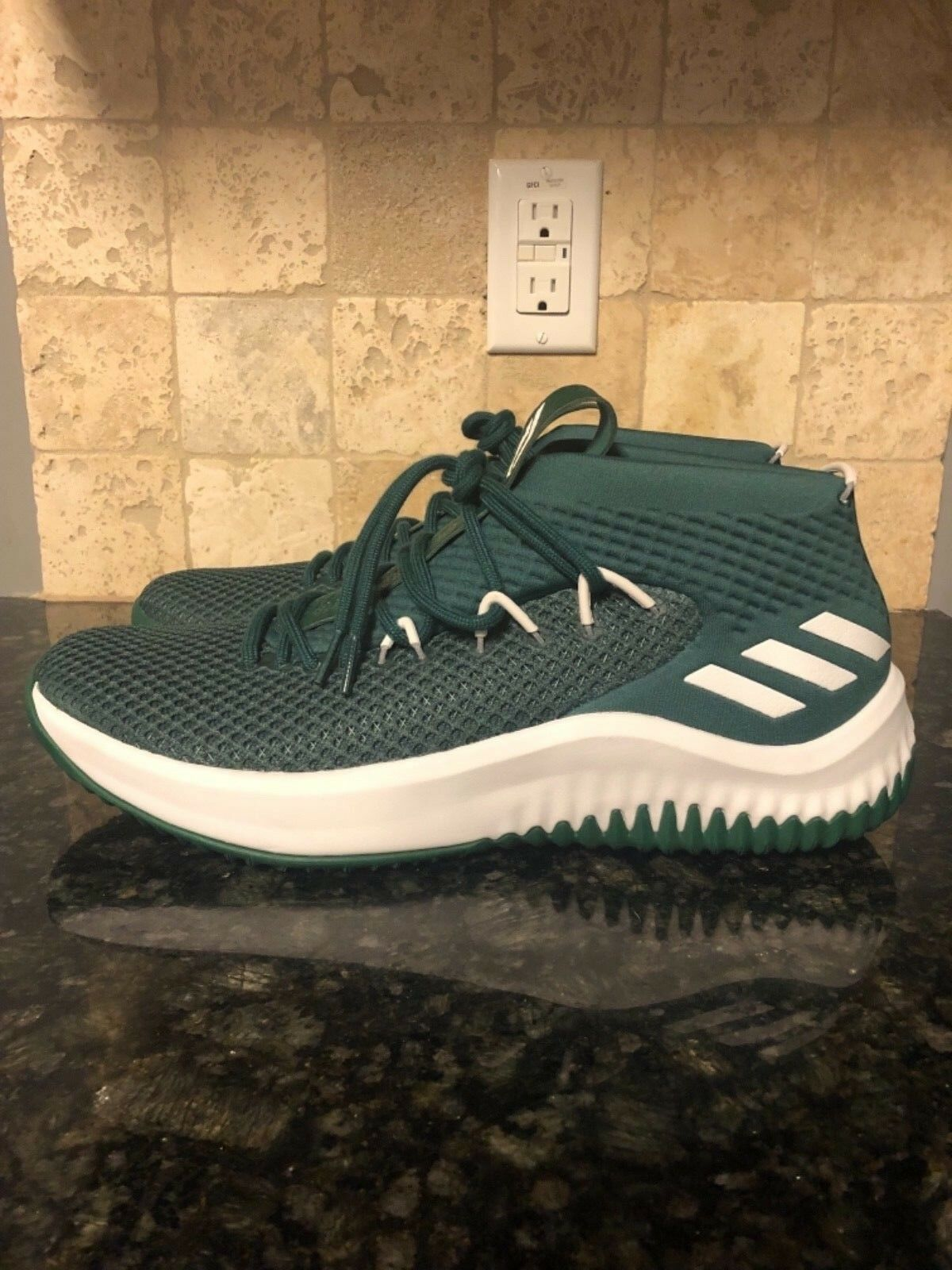 Adidas Men's Dame 4 Team Exclusive Basketball shoes Green White 13 14 B76016