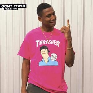3b6f65fe694b Image is loading Thrasher-Tee-Gonz-Cover-Pink-Skateboard-Magazine-Premium-