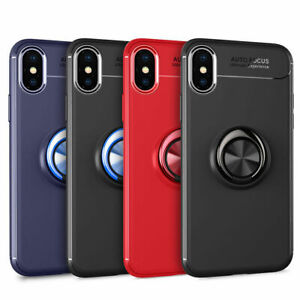 For-iPhone-X-XS-XR-XS-Max-7-8-Plus-Metal-Magnetic-Ring-Holder-Stand-Case-Cover