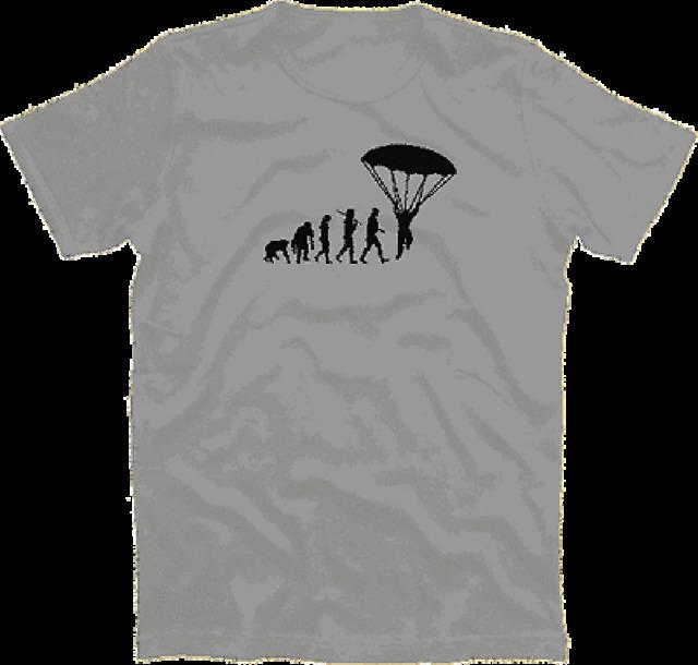 Standard Edition Fallschirmspringer Evolution Fallschirm para T-Shirt S-XXXL
