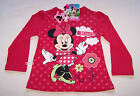 Disney Minnie Mouse Girls Pink Printed Long Sleeve T Shirt Size 7 New