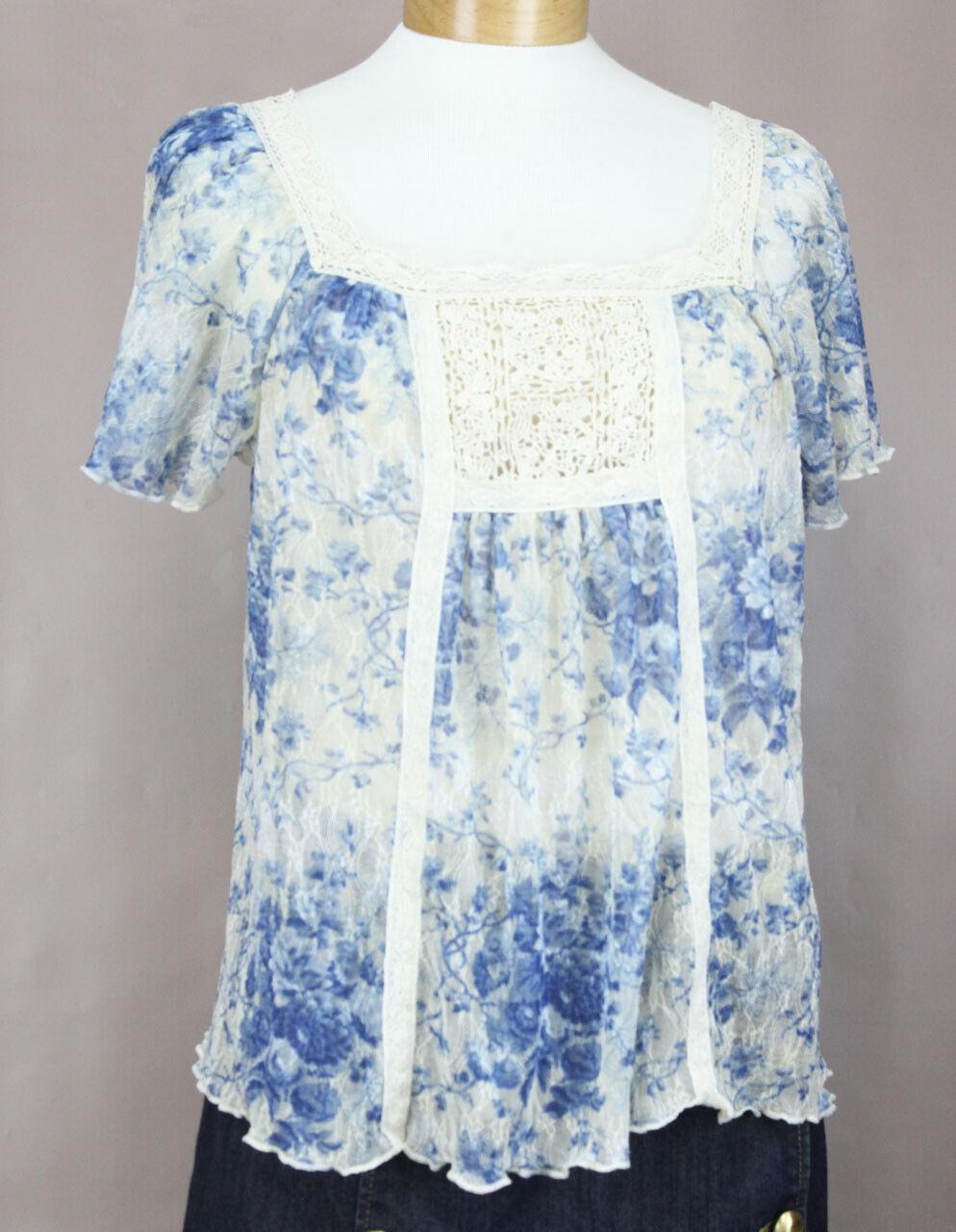 Ralph Lauren Denim & Versorgung Damen Blau Durchsichtiges Blaumenmuster