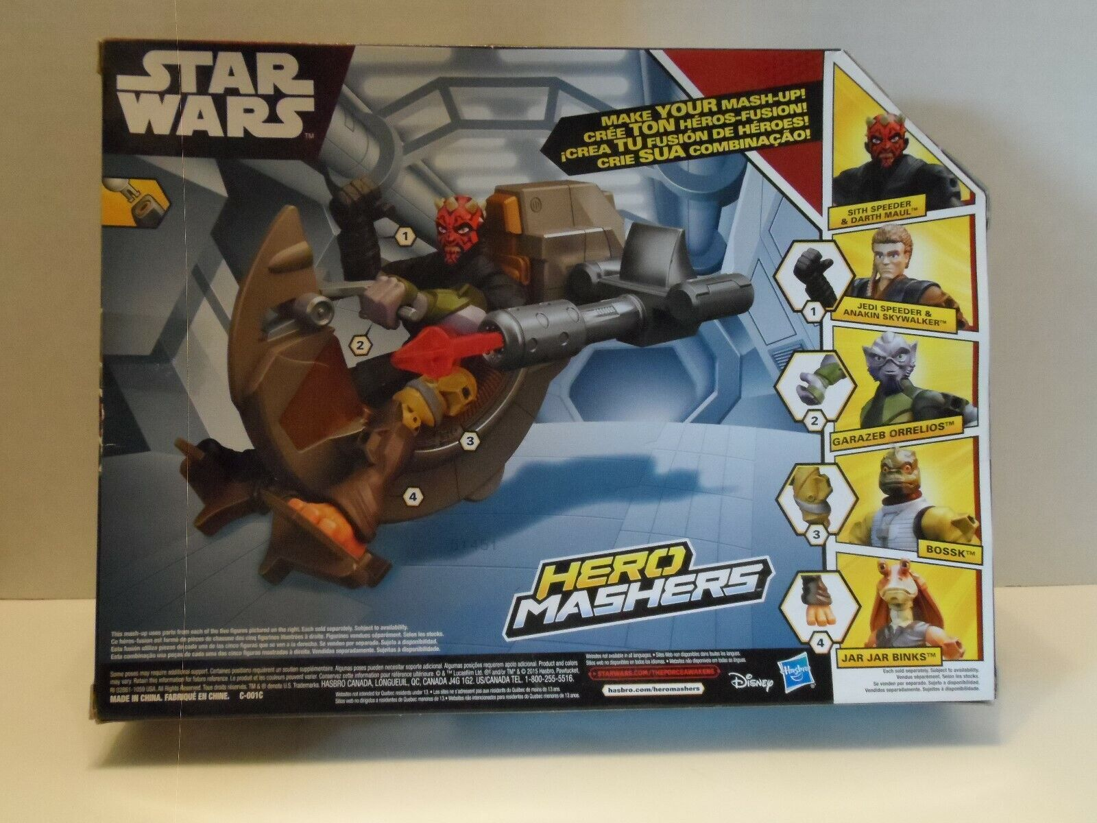 Star Wars Hero Mashers Sith Speeder et Darth Maul