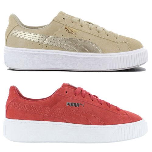 Puma Suede Platform Damen Sneaker Freizeit Schuhe Leder Turnschuhe Plateauschuhe