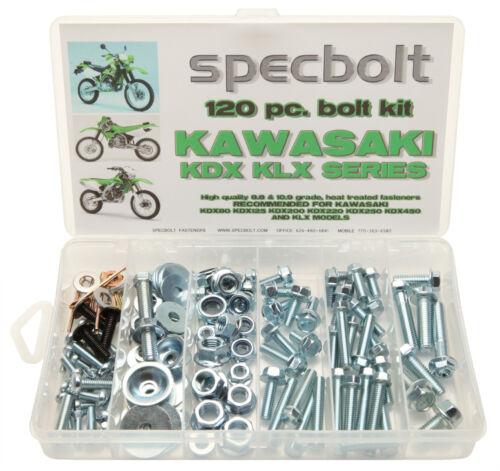 Specbolt 120 piece Bolt Kit Kawasaki KDX 175 200 220 225 250 enduro motorcycle