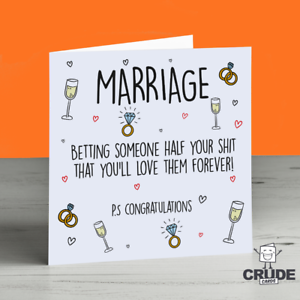 Funny Wedding Cards.Details About Funny Wedding Card Engagement Alternative Marriage Adult Humour Banter