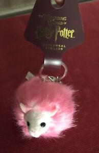 Universal Studios Wizarding Harry Potter Purple Pygmy Puff Plush Keychain New