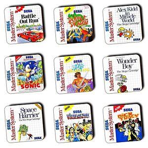 Sega Master System Games Box Art Coasters Wood Buy 3 Get 1
