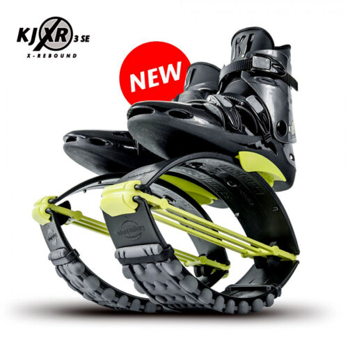 Orginal Kangoo Jumps KJ XR3 Springschuhe Black/Yellow Größe M (39-41,5)