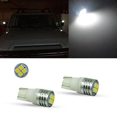 2x Led Side Mirror Light Bulbs Hid White 6000k Fits 2007