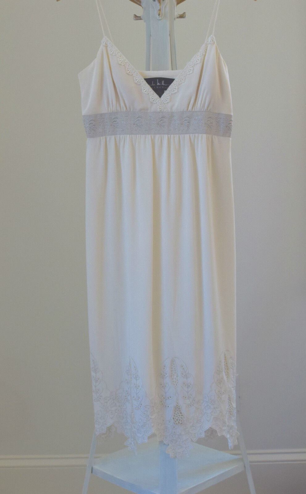 NEW Nicole Miller Collection Ivory Silk Lace Empire Waist Dress Sz 2  550