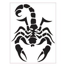 Scorpion autocollant sticker adhésif orange 8 cm