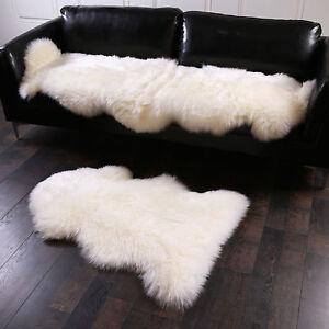 Sofa ökologisch öko lammfell schaffell teppich sofa matte echtes fell naturfell