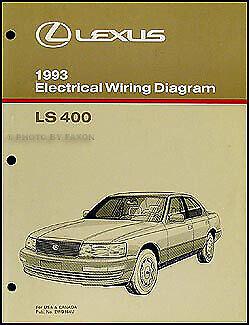 1993 Lexus LS 400 Wiring Diagram Manual Original LS400 ...